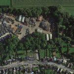 Vue aérienne du site.